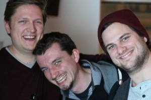 Die audioguideMe Jungs sind immer für ein Spaß zu haben: (v.l.n.r.) Hannes Wirtz, Paul Bekendorf, Christoph Tank