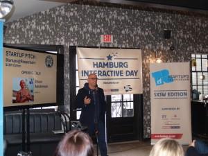 Urban.us- Gründer und Entrepreneur Shaun Abrahamson hält die Keynote