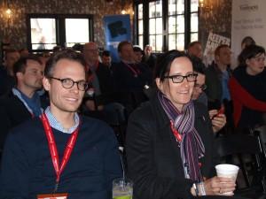 Die Juroren Katharina Borchert und Jan Brorhilker sind gespannt auf die Präsentation, die gleich statt finden.