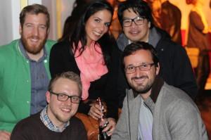Carlos (ganz rechts unten) beim unserem ersten Hamburg Startups Mixer