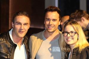 Sebastian Diemer, Gründer von Kreditech (l. mehr über ihn hier: http://bit.ly/1ktE90U), Christian Heimerl und Vanessa Rose.