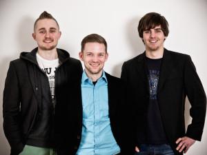 Die SessionLine Gründer: (v.l.n.r.): Jan Beckers, Patrick Henke und Sven Casimir