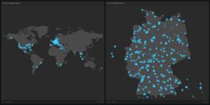 Familonet-App uns ihre weltweite Reichweite.  Bild: Familonet