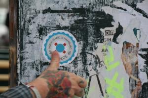 Made in Hamburg Sticker: Wenn ihr in der Schanze ab und zu einen Rettungsring 'made-in-Hamburg' kleben seht, wisst ihr nun Bescheid
