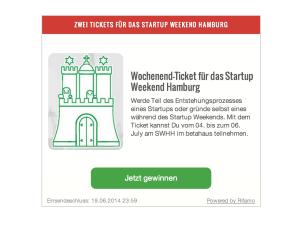 Die aktuelle Verlosung auf Hamburg Startups