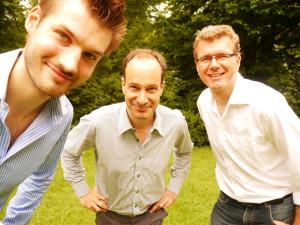 Das Rifamo Team: (v.l.n.r.) Philipp Bethge, Frank Felix Dabatin, Ole Boyken