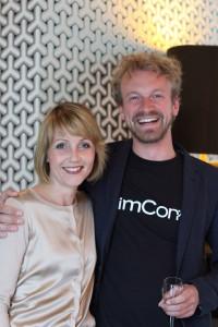 Hamburg Startups Mitgründerin und Geschäftsführerin Sina Gritzuhn mit Jimdo Mitgründer Fridtjof Detzner