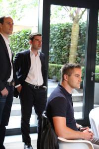 Sebastian Diemer (r.) beim Hamburg Startups CXO-Dinner im George.
