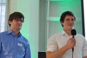 Maximilian Schmiedel (r.) und Sebastian Rösch präsentierten brightup auf der 3t-Expo