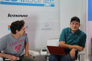 Techblogger Sascha Pallenberg (r.) mit Mark Jäger von Stuffle