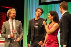 Fridtjof Detzner, Matthias Henze und Christian Springbub gemeinsam mit Vanessa Seifert