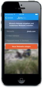 Mit der Jimdo App die Website von überall bearbeiten