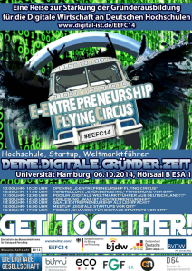 Der E-Entrepreneurship Flying Circus kommt am 6. Oktober nach Hamburg