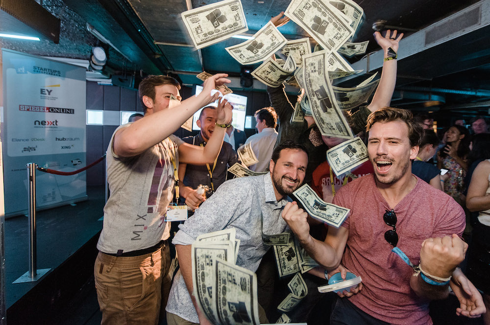 TripRebel splashes the Startup dollars to celebrate the cash bonanza. Photo: Stefan Groenveld