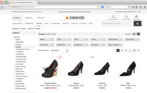 Abb. 3: Eine sprechende URL und Themenkanalisierung perfekt umgesetzt bei dem Online-Händler Zalando Quelle: zalando.de