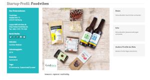 Foodvibes im Hamburg Startup Monitor