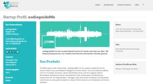 AudioguideMe im Hamburg Startup Monitor.