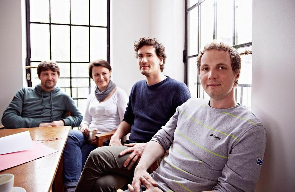 Das Gründerteam: Robin Brandt, Sarah Kirscht, Mark  Jäger und Morten Hartmann (Bild: pixelkenner.de)
