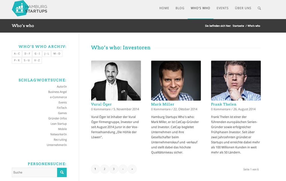Das Hamburg Startups Who's who
