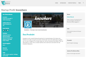 Travel-Startup knowhere