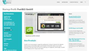 FastBill im Hamburg Startup Monitor