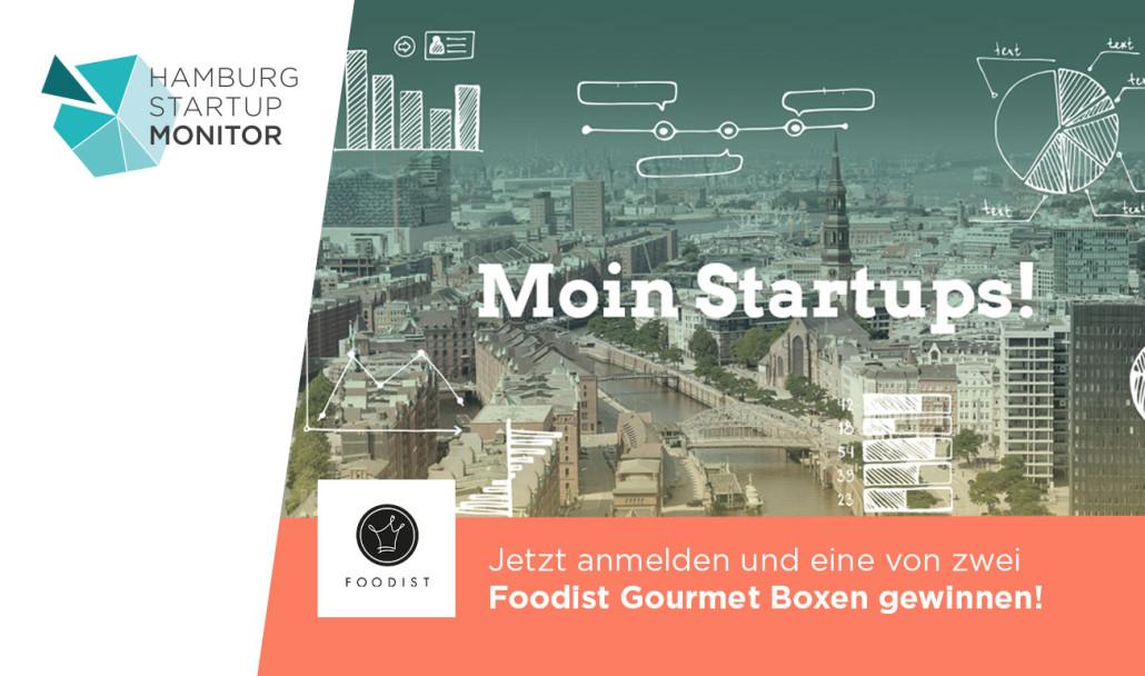 Beim Hamburg Startup Monitor mitmachen und was Leckeres gewinnen.