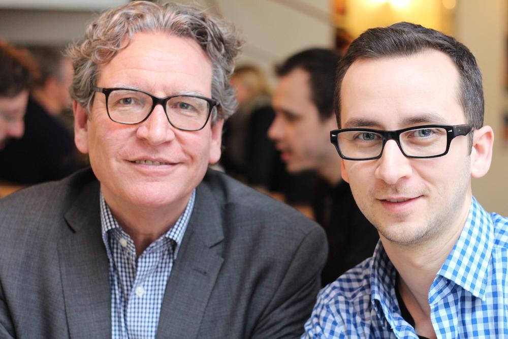 Stefan Klein (l.) und Tahsin Avci beim Businesslunch im Marinehof Café
