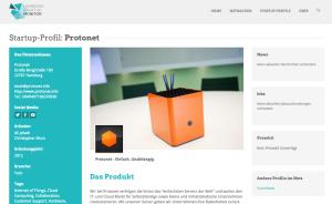 Protonet im Hamburg Startup Monitor