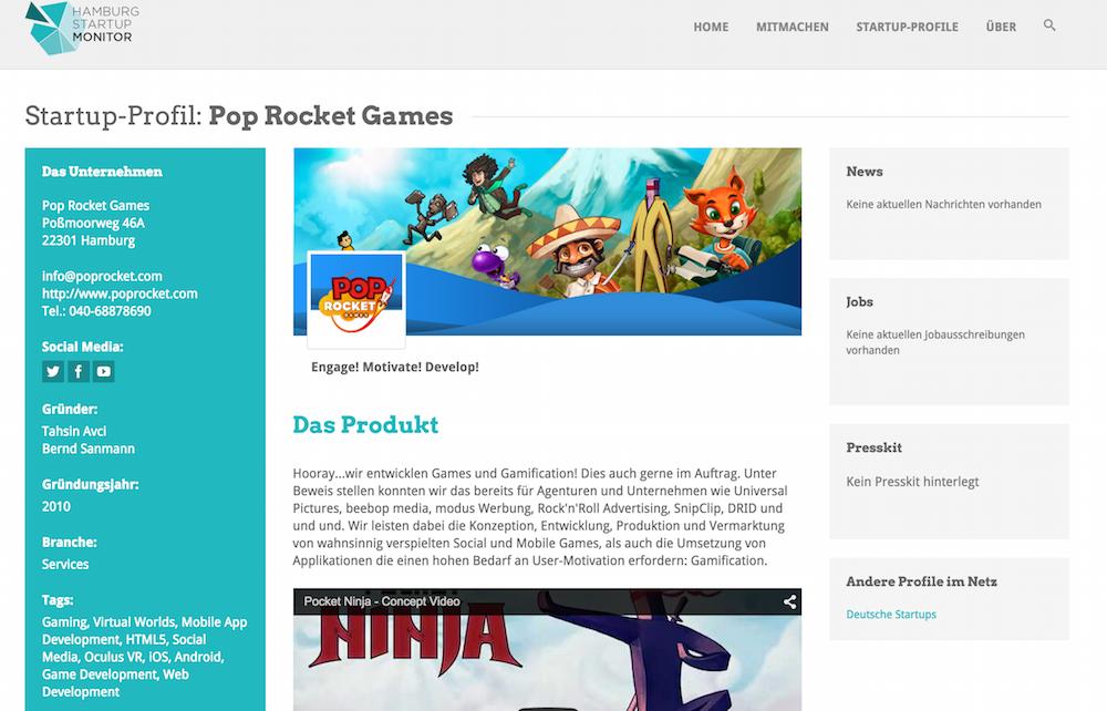 Pop Rocket Studios - Tashin Avci hat sein Unternehmen 2010 gegründet. Erfahrt mehr darüber im Hamburg Startup Monitor