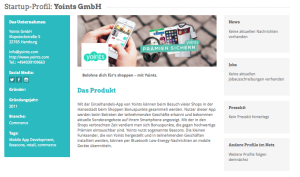 Yoints im Hamburg Startups Monitor