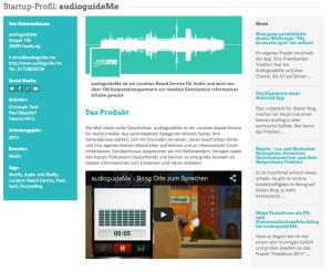 auduiguideMe im Hamburg Startups Monitor.