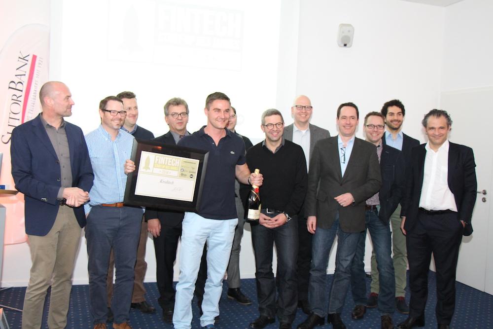 Sebastian Diemer und die Jury der FinTech-Experten