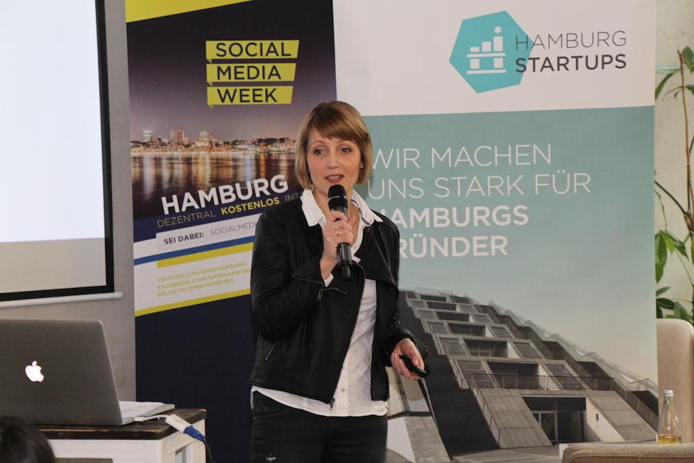 Sina Gritzuhn präsentiert den Hamburg Startup Monitor