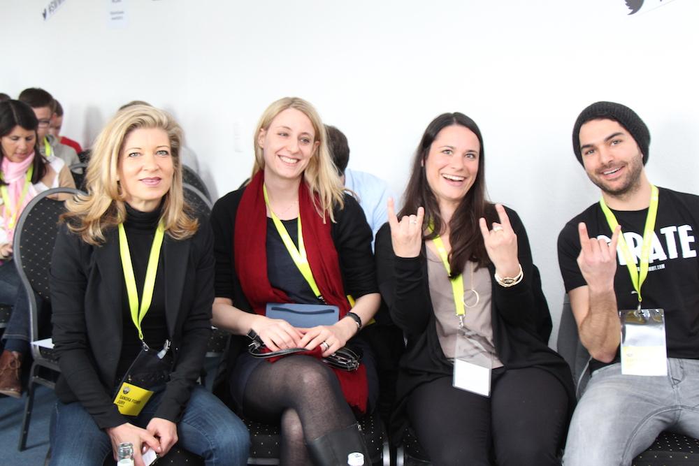 Hatten es nicht leicht: (v.l.n.r) Sandra Fisher,  Tanja Emmerling, Sanja Stankovic und Ramin Nikbin