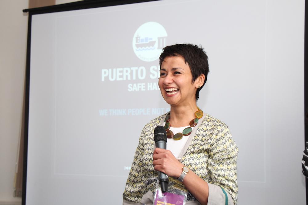 Herlinda Martinez Ortega stellt das Projekt Puerto Seguro vor