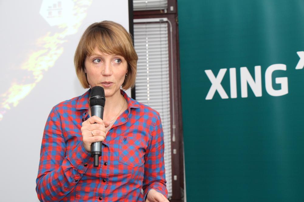 Sina Gritzuhn ist Mitgründerin und Geschäftsführerin von Hamburg Startups. In ihrem Talk heißt sie die zukünftigen Entrepreneure im Hamburger Ökosystem willkommen