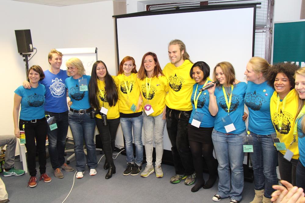 Das Orga-Team: müde aber überglücklich - 54 Stunden dem Thema Entrepreneurship gewidmet