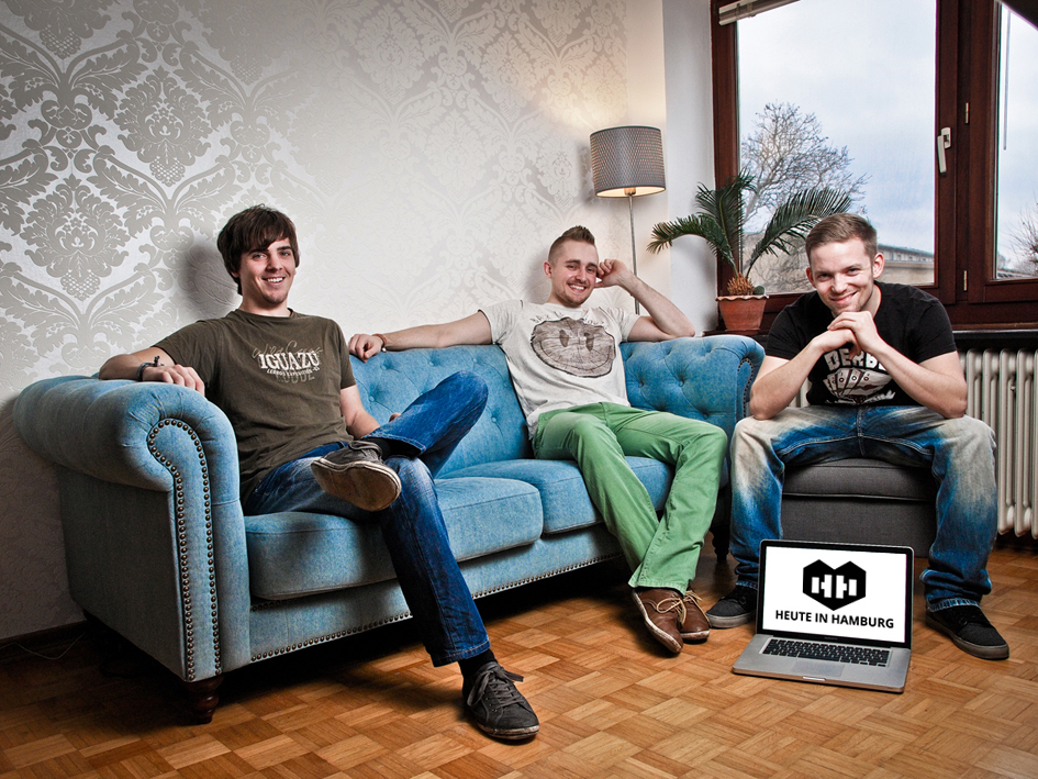 Das alte Sessionline-Team ist das neue Heute in Hamburg Team: Sven Casimir, Jan Becker und Patrick Henke