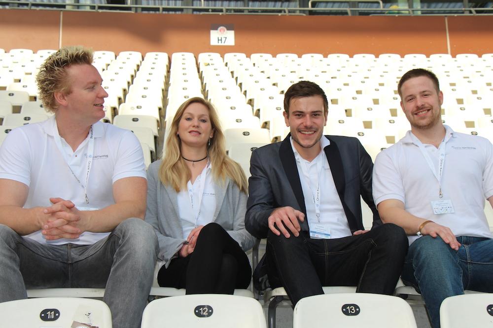 Stellen Großes auf die Beine: Thomas Promny (l.) mit seinem Online-Karrieretag Team