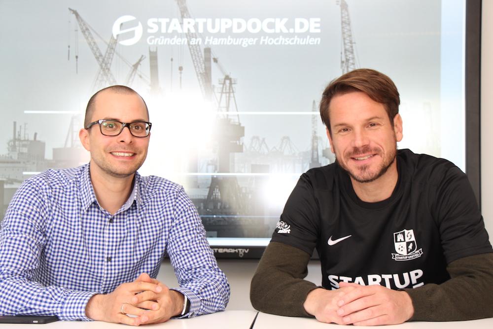Sebastian Tempel und Christoph Ihl beim Gespräch im Startup Dock an der TU Hamburg