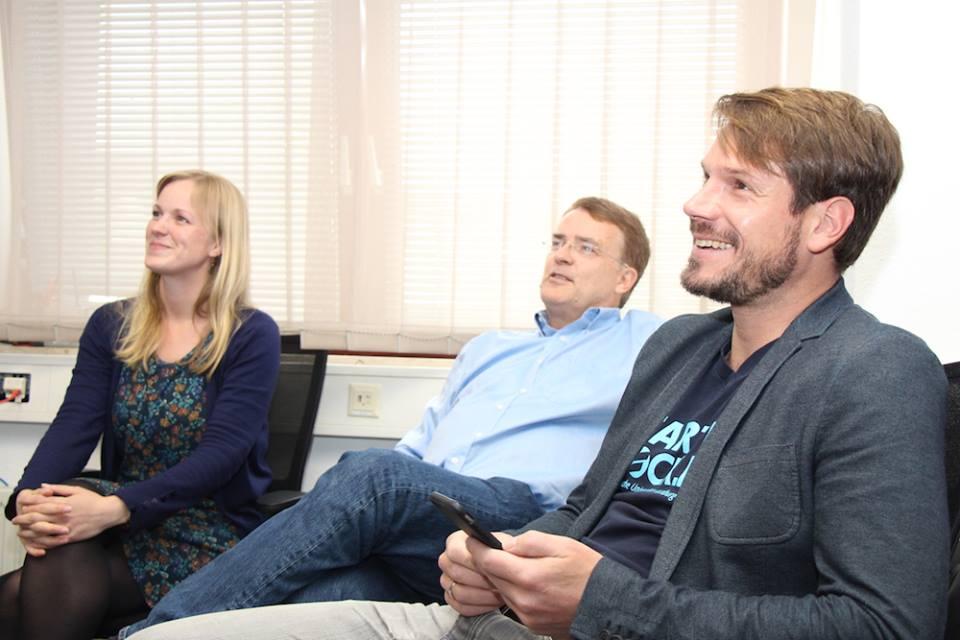 May Lena Signus, Klaus Schmidt und Christoph Ihl, die eine Hälfte der Jury