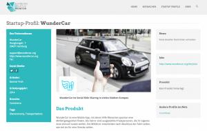 WunderCar im Hamburg Startup Monitor