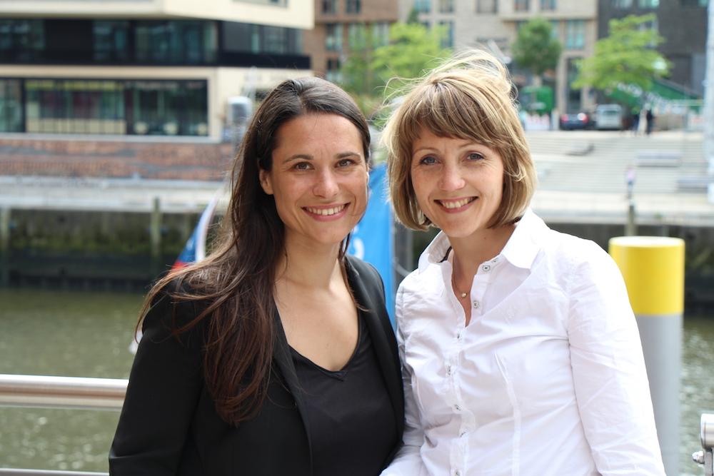 Doppelte Frauen-Power für Hamburger Startups: Das Gründerinnen-Team Sina Gritzuhn (r.) und Sanja Stankovic.
