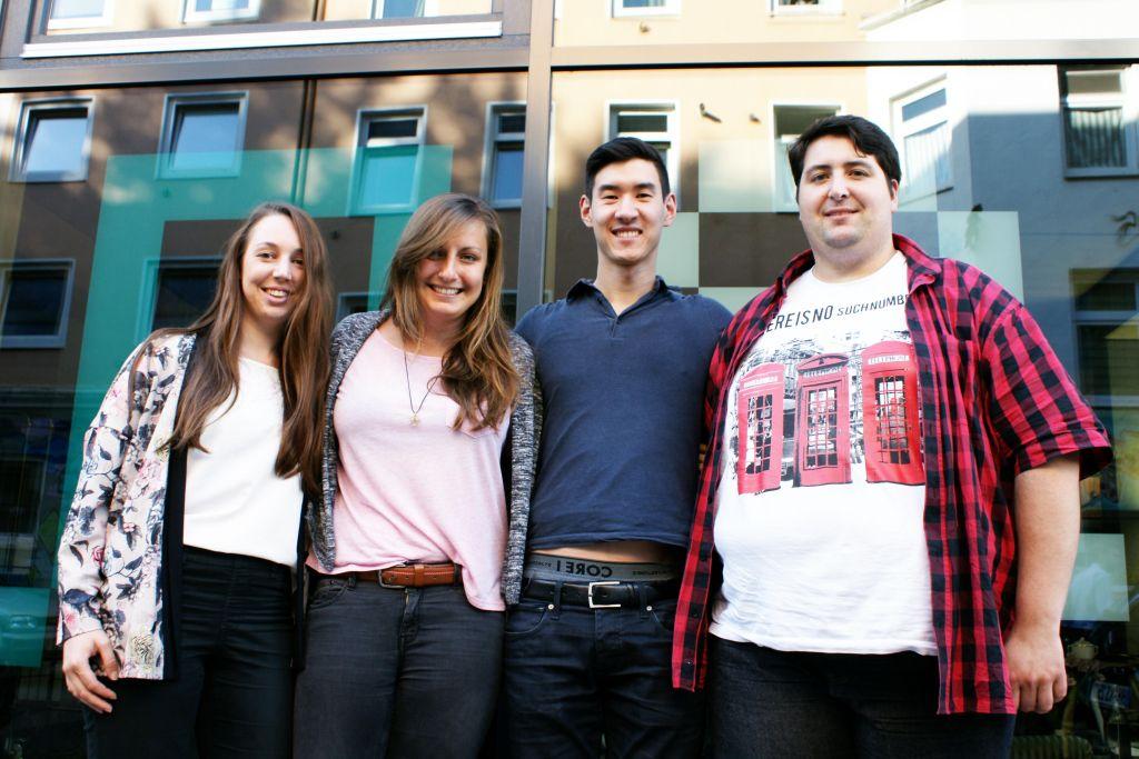 Das Team von comate.me, Stand Juli 2015: Caroline Bauer, Marina Guz, Thomas Heigl und Robert Rafai.
