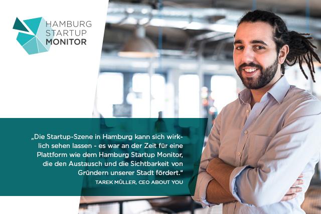 Serial-Entrepreneur Tarek Müller hält den Monitor für eine Bereicherung der Hamburger Startup Szene
