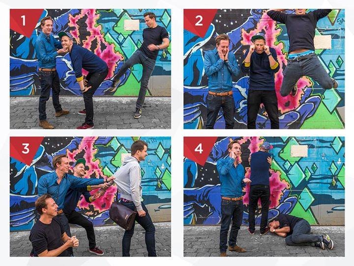 """Die Idee hinter Spotgun und dem Suttgarter Trio rundum Dominic, Philipp und Jürgen? Die gleichnamige SPOTGUN-App, mit der live in der TV-Werbepause """"Werbung raten"""" gespielt werden kann. (Foto: nextMedia.Hamburg)"""