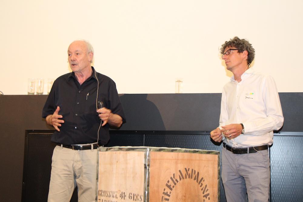 Die erste Ausgabe des LaborX, die in Hamburg stattfand. Mit Prof. Faltin und Dr. Jan Evers (r.)