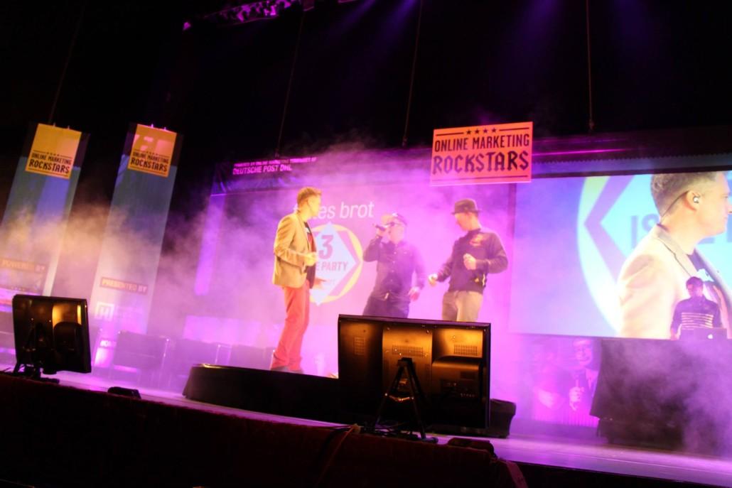 Auch der Unterhaltungsfaktor kommt nicht zu kurz: Fettes Brot auf der OMR Konferenz 2015