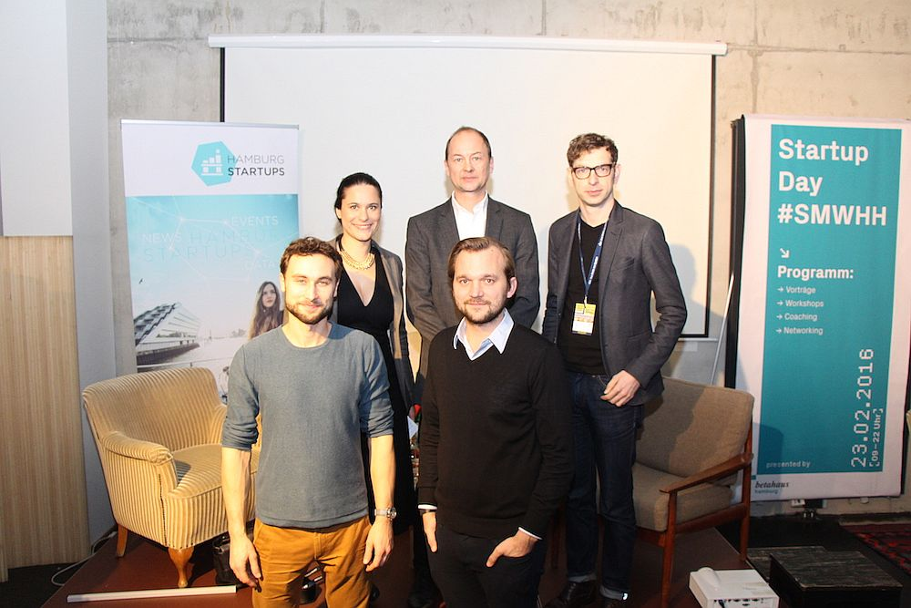 vordere Reihe: Peter Sorowka, Robert Beddies; hintere Reihe: Sanja Stankovic, Niels Neumann, Jens Uehlecke