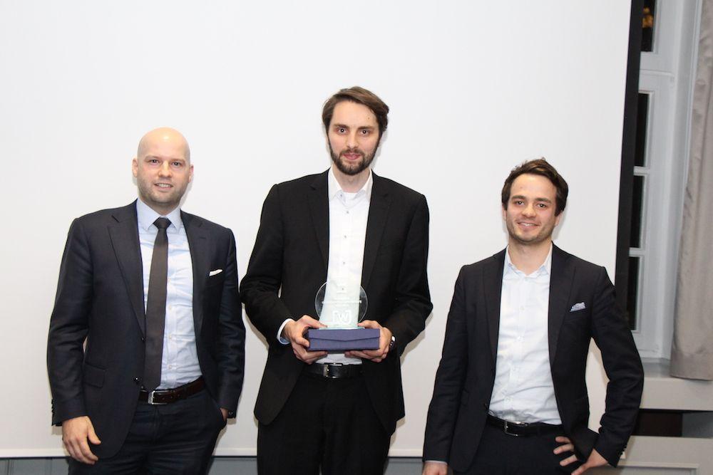 Christopher Knipp von BRL mit Matthias Schmittmann und Johannes Weber von bentekk